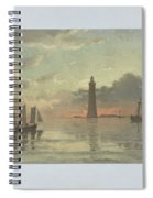 Sunrise To Painting By Frederick C. Sorensen, Anonymous, After Carl Frederik Sorensen, 1868 - 1876 Spiral Notebook