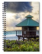 Sunrise Tower At The Beach Spiral Notebook