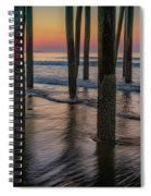 Sunrise Under The Pier Spiral Notebook