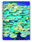 Sunrise Waterlilies Spiral Notebook