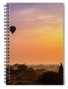 Sunrise With Balloons Spiral Notebook
