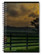 Sunrise With Horses Spiral Notebook