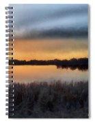Sunrise On A Frosty Marsh Spiral Notebook