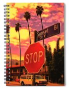 Sunset 7700w Spiral Notebook