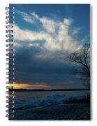 Sunset Along The Mississippi River Spiral Notebook