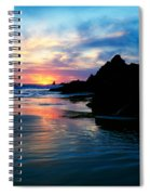 Sunset And Clouds Over Crescent Beach Spiral Notebook
