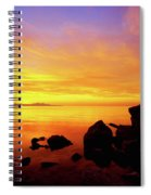 Sunset And Fire Spiral Notebook