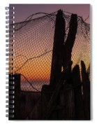Sunset And Fishing Net Cape May New Jersey Spiral Notebook