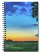 Sunset And Flowers Spiral Notebook