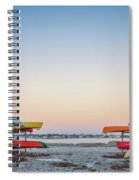 Sunset And Kayaks Spiral Notebook