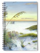Sunset And Sea Oats At Siesta Key Public Beach -wide Spiral Notebook