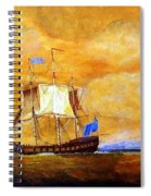 Sunset And Ships Spiral Notebook