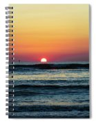 Sunset And Waves Spiral Notebook