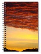 Sunset Art Prints Canvas Orange Clouds Twilight Sky Baslee Troutman Spiral Notebook