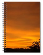 Sunset Art Prints Orange Glowing Western Sunset Baslee Troutman Spiral Notebook