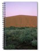 Sunset At Ayre's Rock Spiral Notebook
