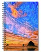 Sunset At Cannon Beach Spiral Notebook