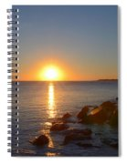 Sunset At Cape May Beach Spiral Notebook