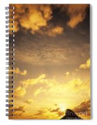 Sunset At Chinamans Hat Spiral Notebook