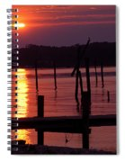 Sunset At Colonial Beach Spiral Notebook