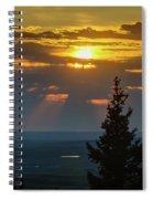 Sunset At Cypress #3 Spiral Notebook