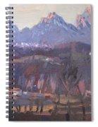 Sunset At Dolomites Belluno Spiral Notebook