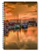 Sunset At Fisherman's Cove Spiral Notebook
