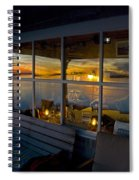 Sunset At Fletchers Camp Spiral Notebook