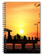 Sunset At Fort De Soto Fishing Pier Pinellas County Park St. Petersburg Florida Spiral Notebook