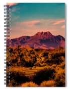 Sunset At Four Peaks Spiral Notebook