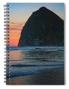 Sunset At Haystack Rock Spiral Notebook