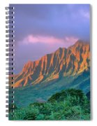 Sunset At Kalalau Lookout Spiral Notebook