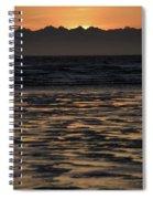 Sunset At Kenai Beach Spiral Notebook
