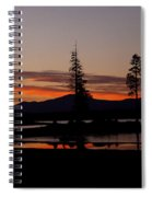 Sunset At Lake Almanor 02 Spiral Notebook