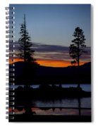 Sunset At Lake Almanor Spiral Notebook