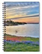 Sunset At Lake Buchanan Spiral Notebook