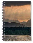 Sunset At Lake District Spiral Notebook