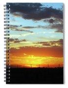 Sunset At Little River Victoria Spiral Notebook