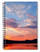 Sunset At Ministers Island Spiral Notebook