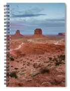 Sunset At Monument Valley No.2 Spiral Notebook