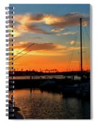 Sunset At Newport Beach Harbor Spiral Notebook