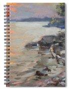 Sunset At Niagara River Spiral Notebook