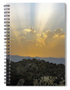 Sunset At Pastelero Near Villanueva De La Concepcion Andalucia Spain Spiral Notebook