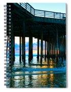 Sunset At Pismo Beach Pier Spiral Notebook