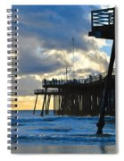 Sunset At Pismo Pier Spiral Notebook