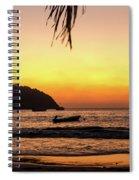 Sunset At Playa La Ropa Spiral Notebook