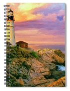Sunset At Portland Head Spiral Notebook