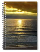 Sunset At Praia Pequena, Small Beach In Sintra Portugal Spiral Notebook