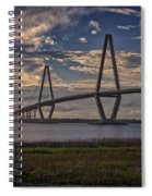 Sunset At Ravenel Bridge Spiral Notebook