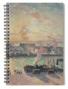 Sunset At Rouen Spiral Notebook